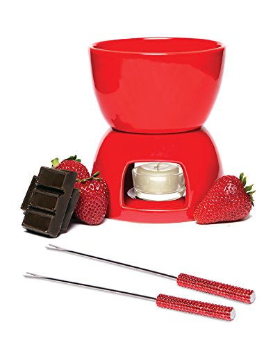 Chocolate Fondue Set - Red