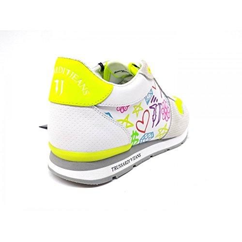 Trussardi Jeans Damen Sneaker White/Lime White/Lime