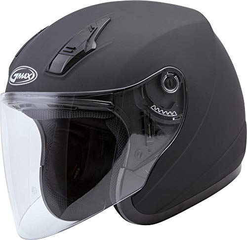 GMAX OF-17 Adult Solid Open-Face Motorcycle Helmet - Matte Black/Large