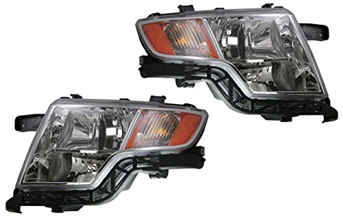Front Headlights Headlamps Lights Lamps Left Right Pair Set For   Ford Edge