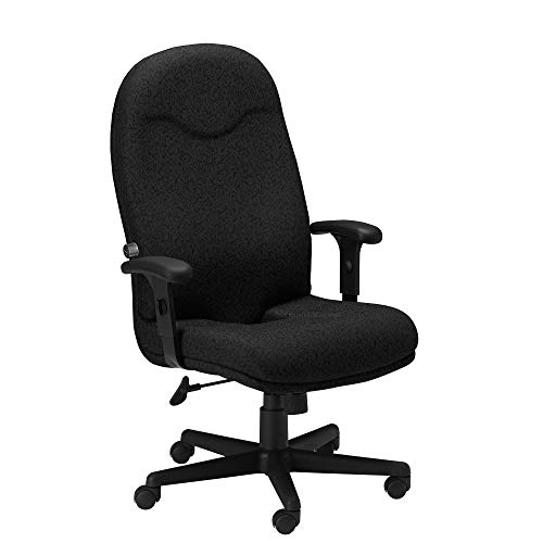 Mayline Comfort Series Executive High Back Chair with T-Pad Arms, Black