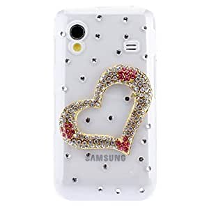 good 3D Heart-shaped Pattern Hard Case with Diamante for Samsung Galaxy Ace S5830
