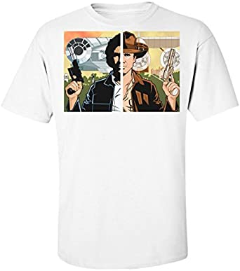 Han Solo Indiana Jones Harrison Ford Symmetry Mens T-Shirt: Amazon.es: Ropa y accesorios