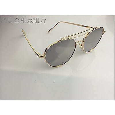 LXKMTYJ Les hommes et les femmes de la mode des lunettes de soleil  polarisées face ronde rétro lunettes concept rue de la personnalité,Kim  fort puce mercure 2dfa589b89f8
