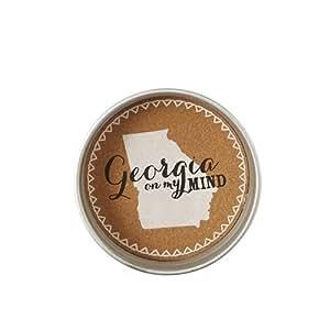 State Jar Lid Coasters- Georgia (Set of 4)
