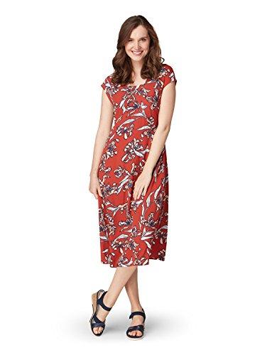 floralem mit Bonita Kleid Damen Pumpkin Dark Muster gxtCzwR
