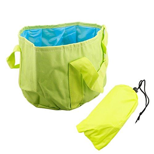 A-szcxtop 15L faltbar Becken Outdoor Reisen Wandern Picknick Camping tragbarer, faltbarer Spüle mit Tragetasche grün