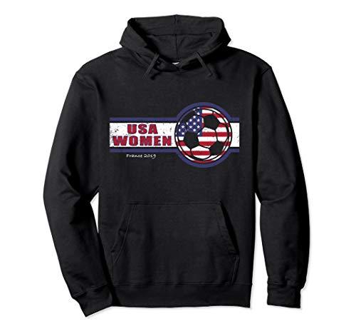 USA United States Women 2019 Hoodie Sweatshirt Soccer Futbol ()