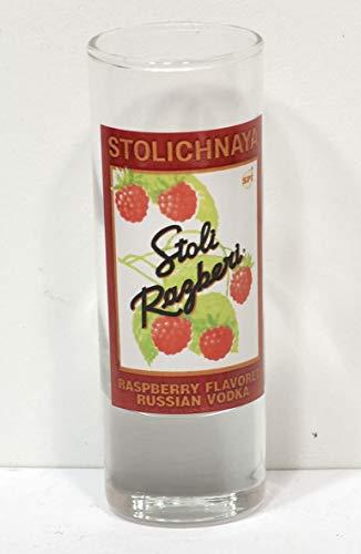 Stolichnaya Stoli Russian Vodka Shot Glass, Stoli Ragberi, Raspberry Vodka Shot Glass