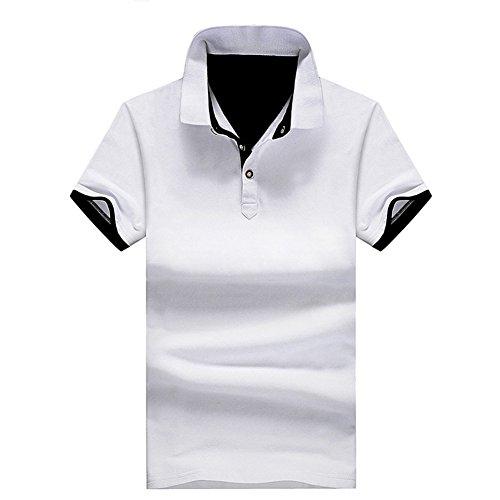 CEEN メンズ ポロシャツ ボタンダウン 半袖 重ね着スタイル カジュアル シンプル 襟付き ファッション スポーツ ゴルフ かっこいい 部屋着 快適 吸汗速乾 夏