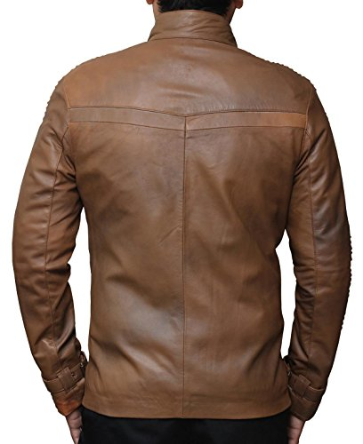 Star Wars Finn Outerwear Jacket Real Brown Leather Jackets Holiday Gifts (M, Chocolate Brown) by fjackets (Image #2)