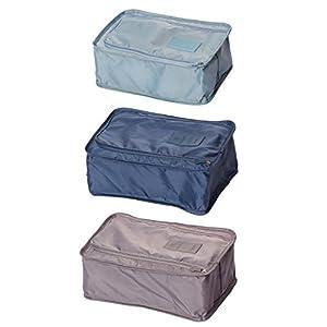 CAIHEE 3/6 Pieces Waterproof Shoe Bag Travle Organizers Easy Packing Cubes Set(Multi1-3pcs)