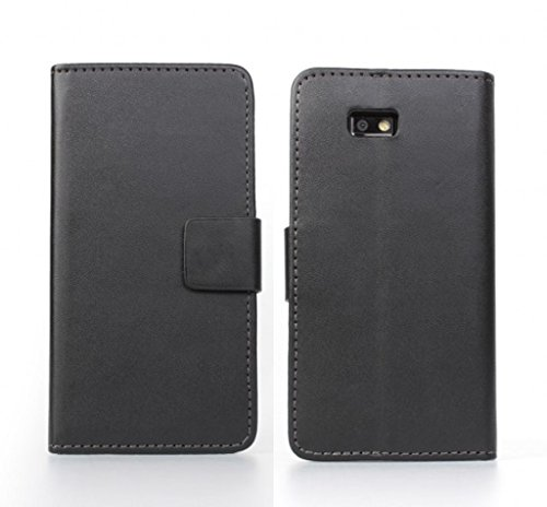Desire 600 Case, iCoverCase Multicolor Flip PU Leather Case Wallet Stand Cover Phone Shell for HTC Desire 600 (Black)