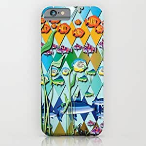 Society6 - Rendition Of A Fish Pattern iPhone 6 Case by DesignsByMarly
