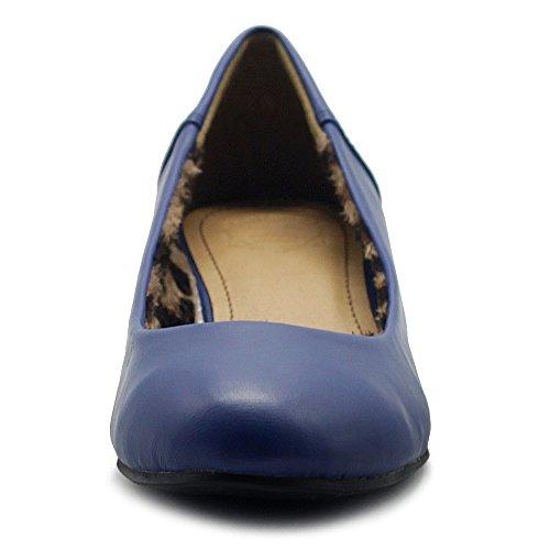Low Women's On Slip Hidden Ollio Basic Light Flats Heel Shoes Navy Comfort Ballet AanFqx8HT