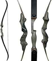 30-50bls 60 Inch Archery Black Hunter Recurve Bow Left Right Hand Glassfiber Sheet Lamination Process for Hunt