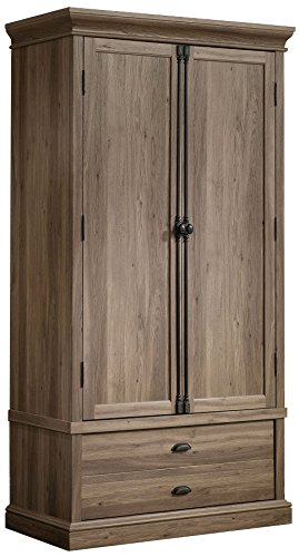 Attractive Sauder Barrister Lane Bedroom Armoire In Salt Oak