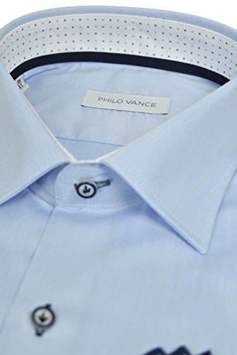 Philo Vance Elegante Camicia Uomo Bianco con Fazzoletto da Taschino Etienne
