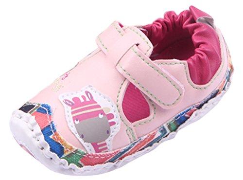 EOZY Zapatos Para Bebé Niñas Primero Paso Andar Exterior PU Artificial Rosa Otoño Pirmavera Longitud 13cm Rosa Otoño Pirmavera Longitud 12cm