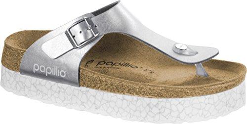 Papillio Women's Gizeh Platform Sandal Monochrome Marble Silver Birko Flor Size 36 M EU