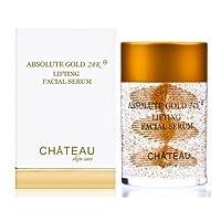 ABSOLUTE GOLD 24K Lifting Facial Serum - 24 Karat Gold, SILK PEPTIDES and HYALURONIC...