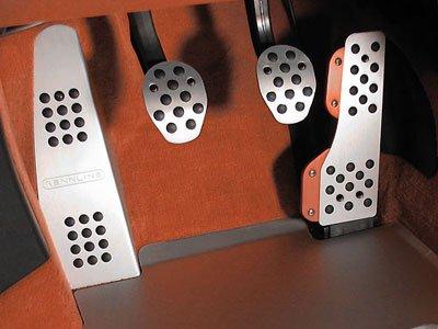 Rennline 1996- 996/986/997/987/Cayman Aluminum pedal set-w/dead pedal- 4 piece Silver