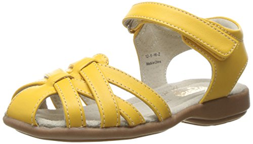 See Kai Run Girls' Camila Sandal, Yellow, 9 M US Toddler