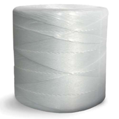 CWC Split Film Polypropylene Tying Twine - 2 Ply, 135 lbs Tensile, White (Pack of 4 rolls)