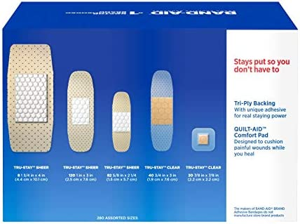 416amefMTkL. AC - Band-Aid Brand Adhesive Bandage Family Variety Pack, Sheer And Clear Bandages, Assorted Sizes, 280 Ct