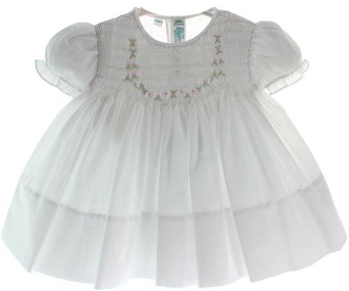 Newborn Girls White Smocked Take Home Dress Feltman Brothers (NB)