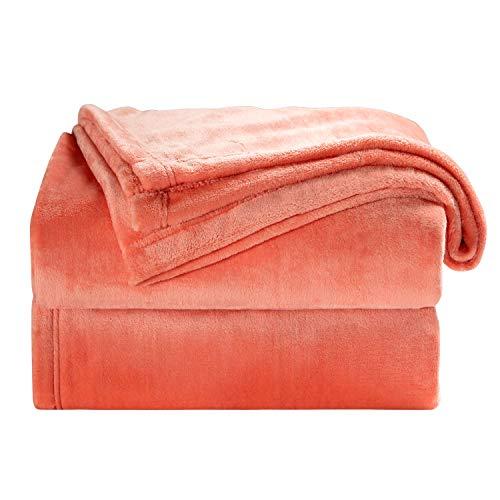 Bedsure Fleece Blanket Throw Size Coral Lightweight Throw Blanket Super Soft Cozy Microfiber Blanket