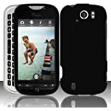 Black Rubberized Coating Hard Plastic Case Cover for HTC myTouch 4G Slide (T-Mobile)