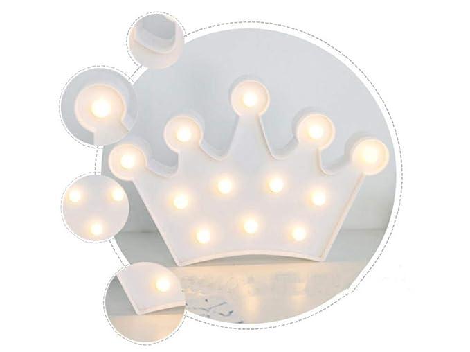 QIAQIA La nueva corona creativa caliente que modela las luces LED enciende la luz 21.5cm ...