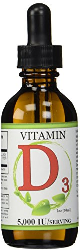 Liquid Vitamin D3 Drops 2 fl ounces (60 milliliter) bottle - 5,000 IU per serving