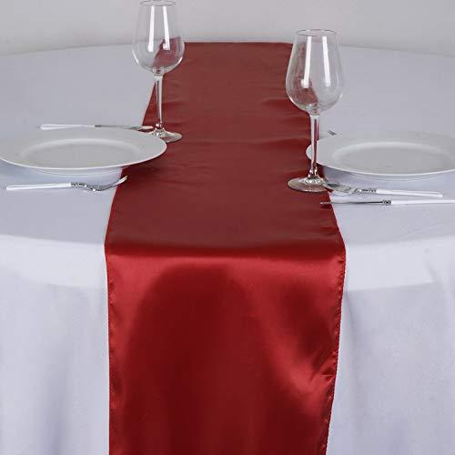 Mikash 12 x 108 Satin Table Runner Wedding Party Dinner Table Supply Decorations Sale | Model WDDNGDCRTN - 2020 | 6 pcs