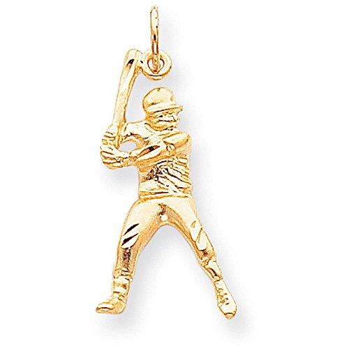 Yellow Gold Baseball Charm - 2