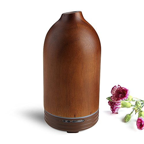 Aromatherapy Diffuser, Joly Joy Wood Essential Oil Diffuser 100ml Aroma Humidifier Ultrasonic Cool Mist for Home Office SPA Bedroom (Essential Oil Diffuser Wood compare prices)