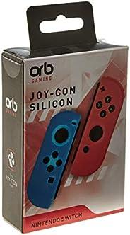 Joycon Silicon Controller Grips - Blue/orange (orb)/switch - Nintendo Switch