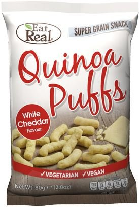 Eat Real Quinoa Puffs Cheese Flavour 113g (Pack of 12)
