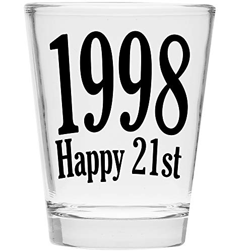 Shot Glass - Happy 21st Birthday Gift - Celebrate Turning Twenty One 21 (1998)