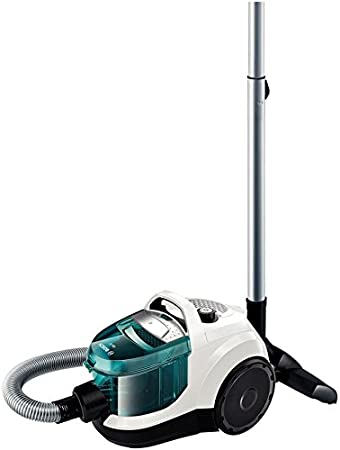 Bosch BGS1112 - Aspirador sin bolsa, 600 W, 79 dB, color blanco y azul: Amazon.es: Hogar