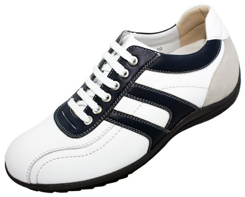 Size White amp; A66361 Blue US D Shoes Casual Shoes Elevator inches 8 9 Height 2 Increasing Taller Leather TOTO nOqH6XdXS