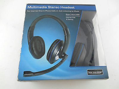 Tech Universe Multimedia Stereo Headset for Internet Chat & Phone Calls or Just Listening to Music