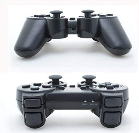 saloke-2-packs-wireless-gaming-console-for-ps2-double-shock-black-and-black