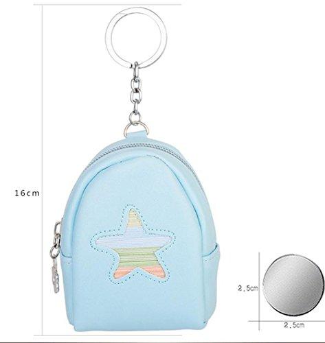 Milopon Kinder Geldbörse Portemonnaie Schlüsselanhänger Taschenanhänger Karikatur Keys Aufbewahrungs Tasche Storage Bag Schlüssel Taschen (Blau) Gelb sus1E