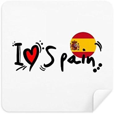 Gafas de limpieza con diseño de la bandera de España con corazón ...