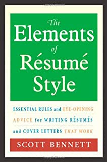 the elements of resume style essential rules and eye opening advice for writing resumes - Writing Resume Cover Letter