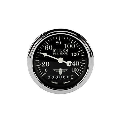 Stewart Warner 82662 Wings Electric Speedometer, Black