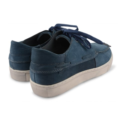 Footwear Sensation - Náuticos para hombre marrón marrón marrón - Navy Nubuck Leather