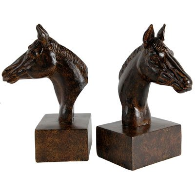 horse head bookends - 9
